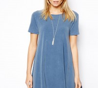 Swing T-Shirt Dress In Acid Wash